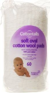 #Cottontails Soft Oval Cotton Wool Pads Pack of 60