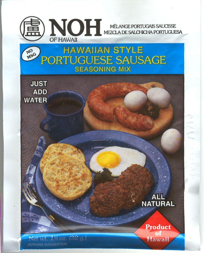 NOH Hawaiian Style Portuguese Sausage Seasoning Mix