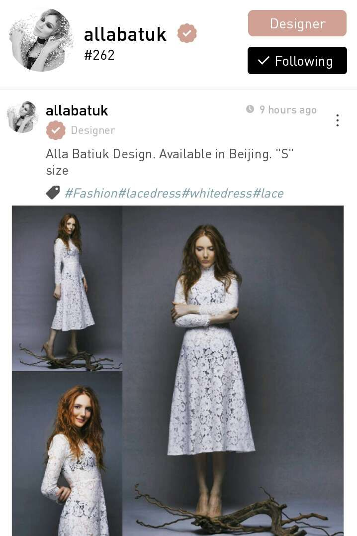 Alla Batak, a fashion designer based in Beijing, China.