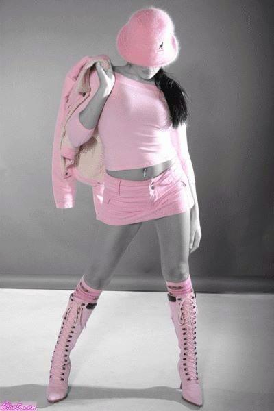 being pinkish