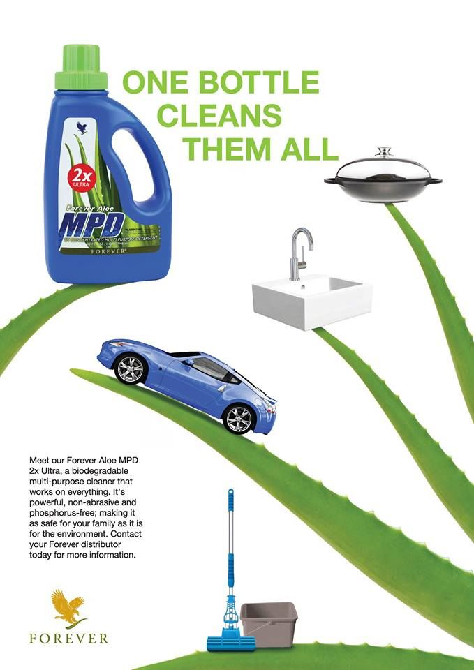 Leave a sparkling shine and pleasant scent to your floors and car. Your clothes will just love the MPD.