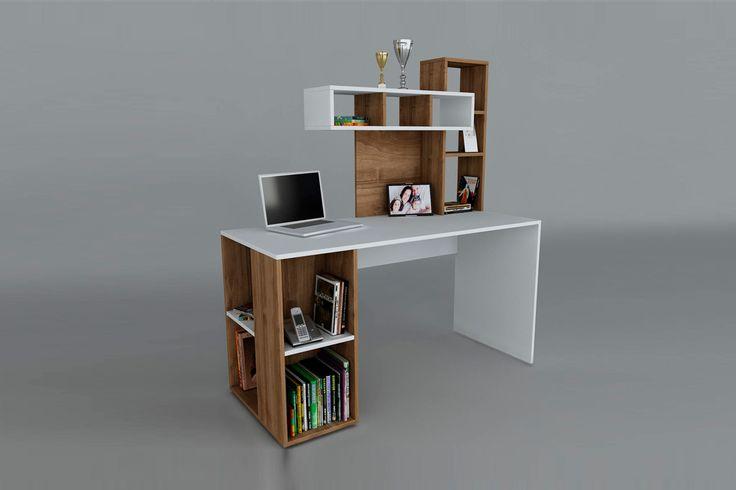 vente wooden art 22929 bureaux bureau coral blanc et imitation bois meuble tv. Black Bedroom Furniture Sets. Home Design Ideas