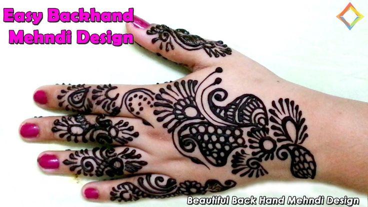 Best Back Hand Mehndi Designs, Floral Back Hand Mehndi Design, new mehndi design back hand