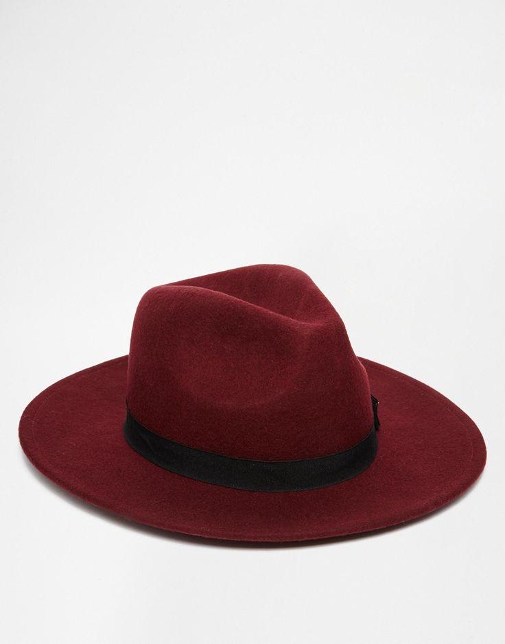Image 3 - ASOS - Chapeau  mou en feutre avec nœud - Bordeaux