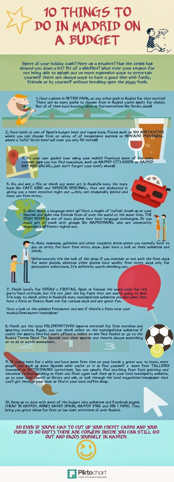 Fish Out of Water : 10 THINGS TO DO IN MADRID ON A BUDGET - Infographi...