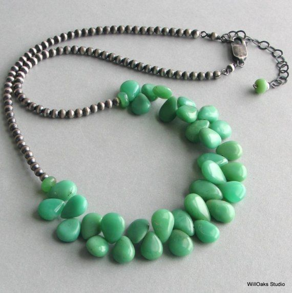 like leaves: Teardrop Necklace, Delux Gifts, Gifts For Her, Green Necklace