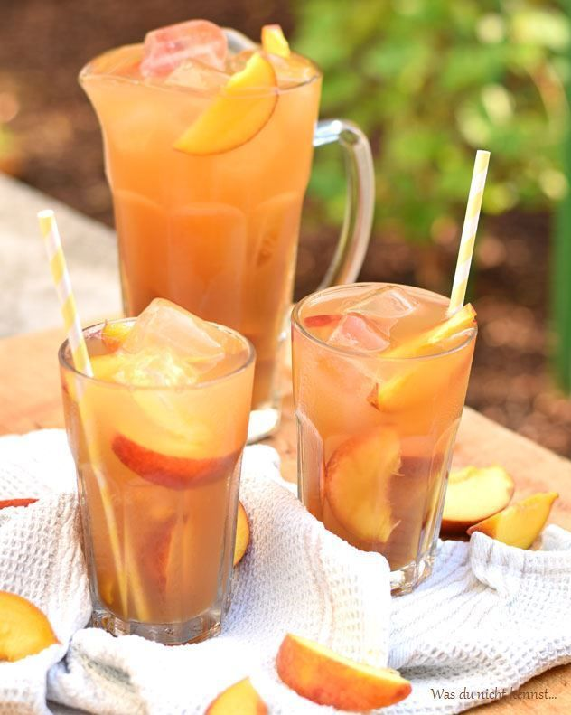 die 25 besten ideen zu pfirsich limonade auf pinterest erfrischenden sommer drinks pfirsich. Black Bedroom Furniture Sets. Home Design Ideas