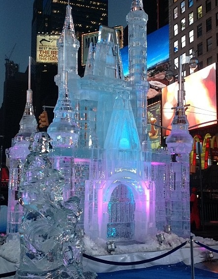 Cinderella Castle ice sculpture