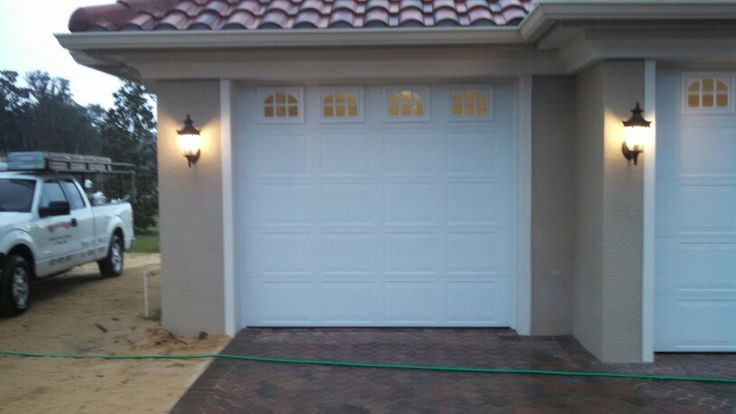 "Some windows in your garage door can brighten things up. Look for the ""Red Ribbon"""