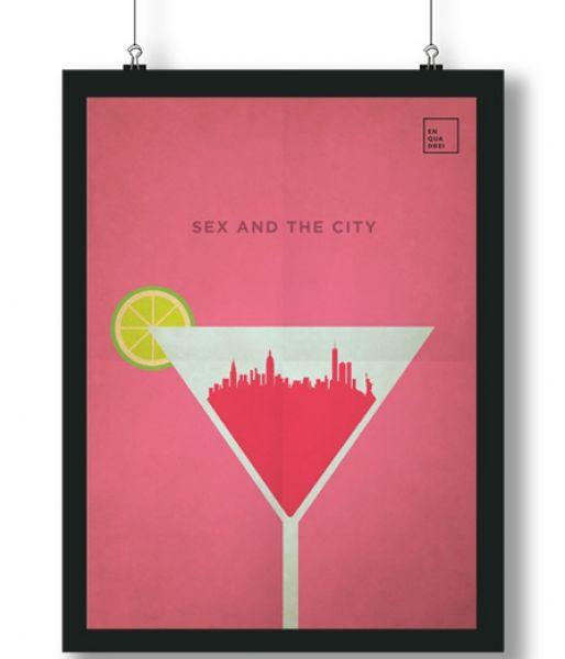 Pôster/Quadro minimalista Sex and the City