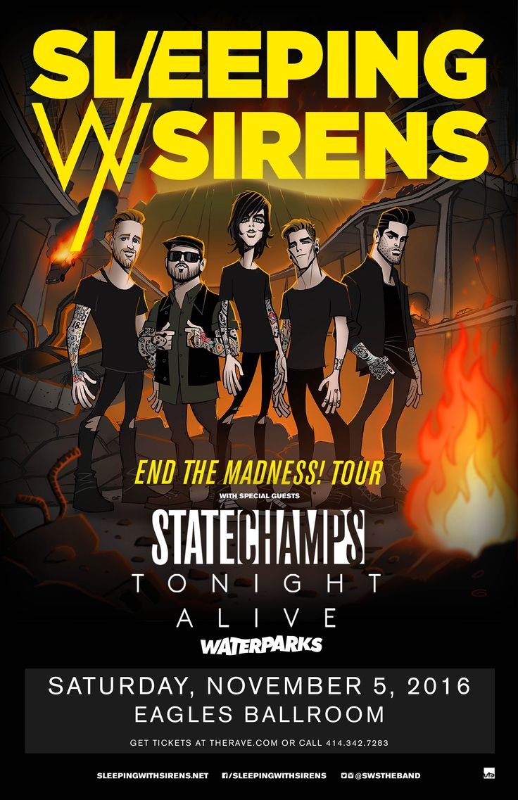 The 25 best sleeping with sirens madness ideas on pinterest tour sleeping with sirens with state champs tonight alive waterparks hexwebz Images