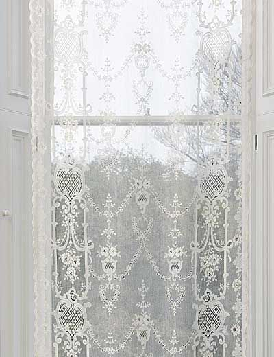 The Highland Rose Patterned Cotton Lace Panel Is Straight