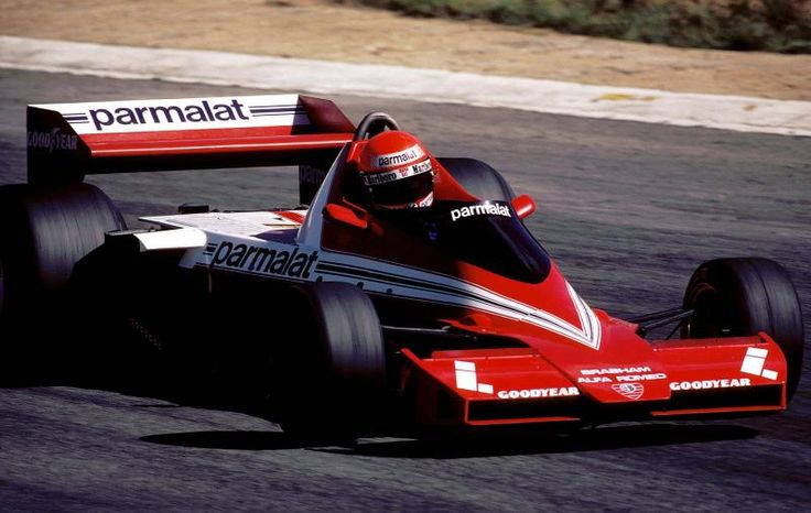 Niki Lauda debuts the Brabham BT46 at Kyalami South Africa.  Notice the revised front wing with radiators.  This made the car understeer and ruin the concept of Murray's original design.