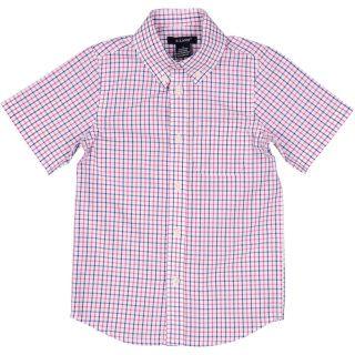 E Land Kids - Tattersall Shirt - Short Sleeve - Red/White/Blue - sizes:  2T, 3T & 4T