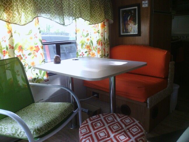 Removed One Bench Seat Replaced It With A Small Chair