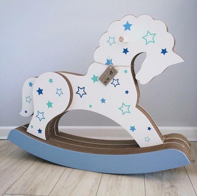 Лошадка-качалка (с деревянной отделкой)