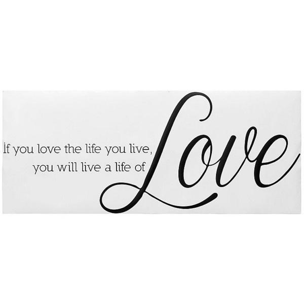 Walltattoo »Love« ($45) found on Polyvore