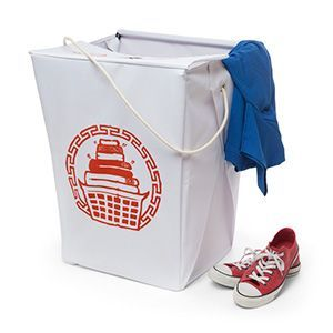 When your socks start to smell like Kung Peeyew Chicken, toss them in our Takeout Box Laundry Hamper. Just like the Chinese takeout boxes we're all familiar with, it'll hold your laundry safe and secure until you're ready to do a load. Not a euphemism.