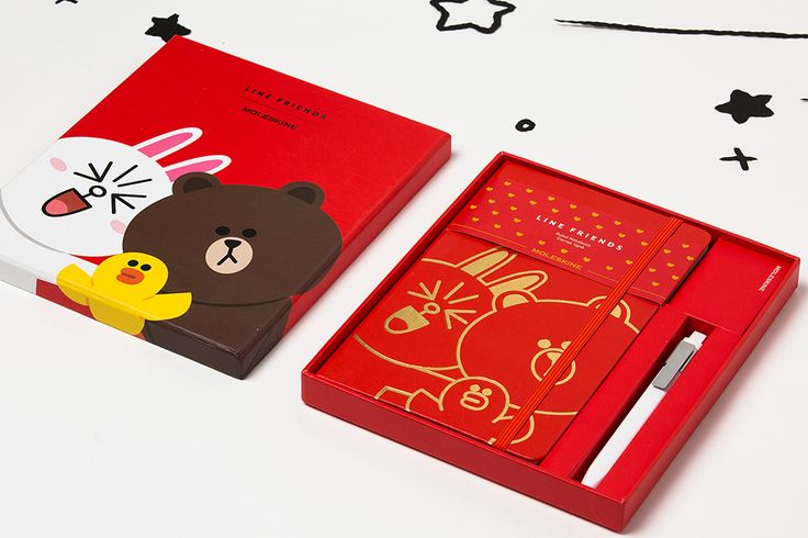 Line Friends Collection - Large Bundle with notebook and pen in a box