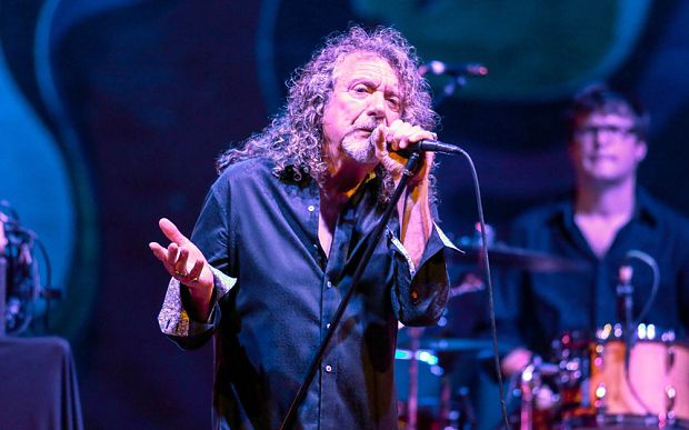 Robert Plant performing with his band the Sensational Space Shifters
