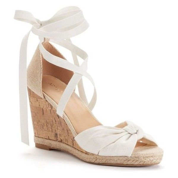 Lace-up Wedge ❤ liked on Polyvore featuring shoes, wedges, wedge shoes, wedge heel shoes, wedge sole shoes, laced shoes and lace up shoes