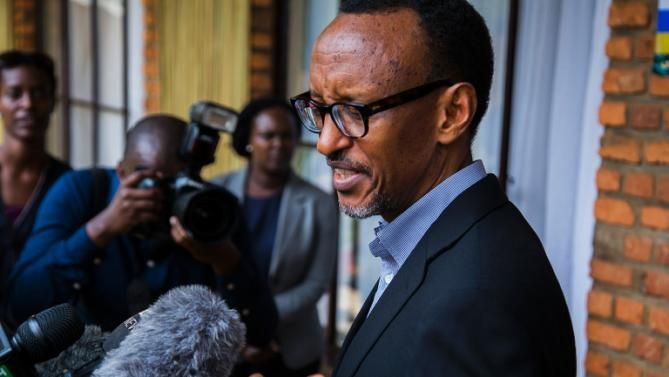 The majority of Rwandans have voted to allow President Paul Kagame to extend his term in office, initial referendum results show. Some
