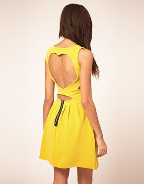 Club L Skater Dress With Sweetheart Back