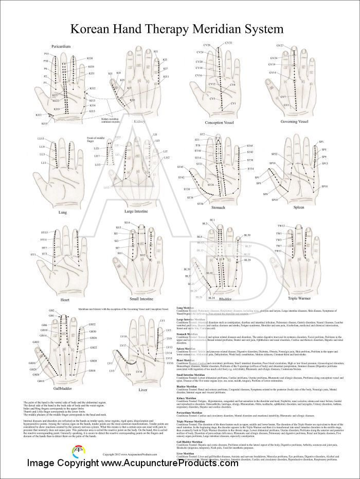 Korean Hand Therapy Meridian System Poster 18