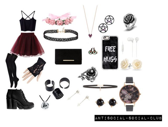 """""""Goth princess^^"""" by guns-nicole-roses on Polyvore featuring Chicwish, Marina Fini, Topshop, Casetify, Black, Dune, Miss Selfridge, Sony, Carbon & Hyde and Bling Jewelry"""