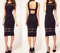 Robin Mesh Pencil Dress