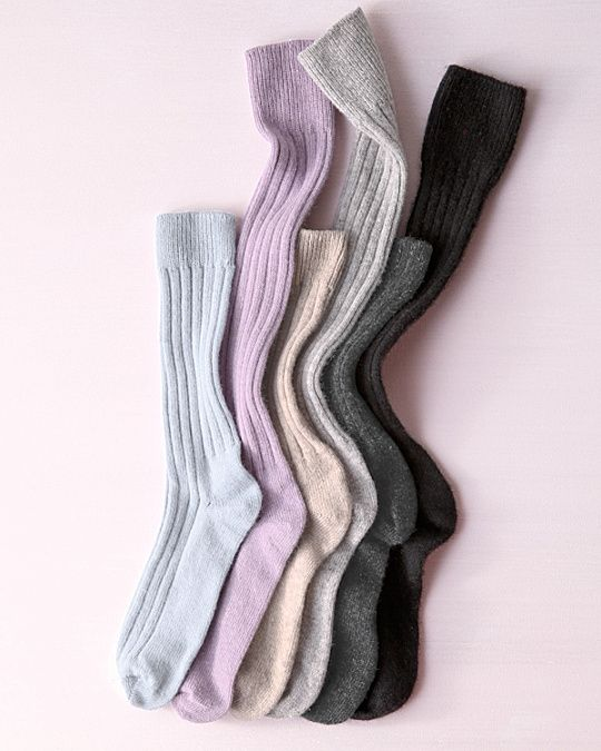 Women's Cashmere Knee-High Socks