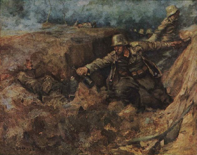 German artist Franz Eichhorst portrays a German defensive
