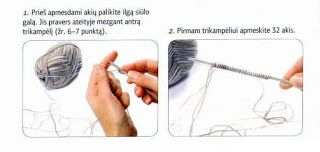 Tina's handicraft : photo tutorial step by step -knitting technical