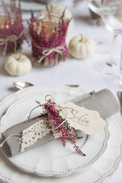 Herbstliche Windlichter und Geschenke & safe the date nostalgischer Weihnachtsmarkt