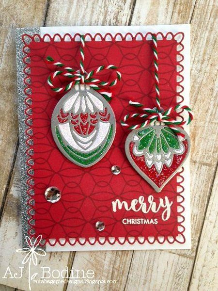 ORNAMENT & SHADOW DIE SET - GINA MARIE DESIGNS | Scrapbook Outlet