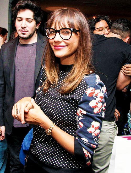 Rashida Jones at the Vogue Eyewear Launch Party.  She's always so stinkin cute!