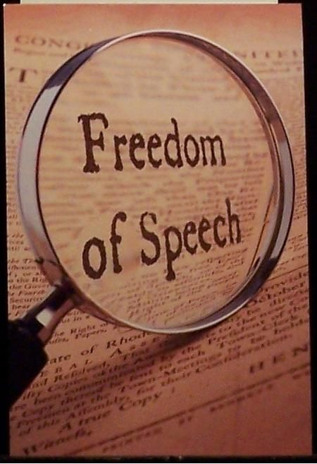An argument that freedom of speech is an essential part of the american democracy