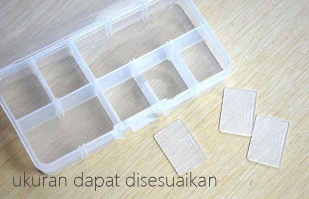 Accessories Box sebagai penyimpanan plastik multifungsi dengan 15 kompartemen berbahan plastik