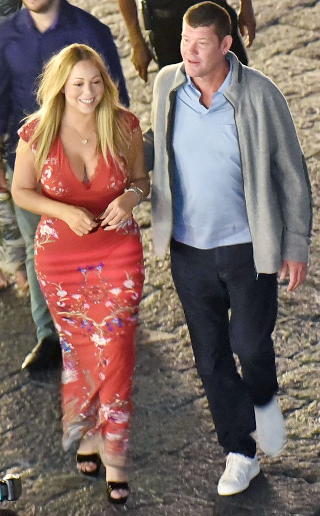 Mariah Carey & James Packer from The Big Picture: Today's Hot Pics The romance continues for the couple in Capri.