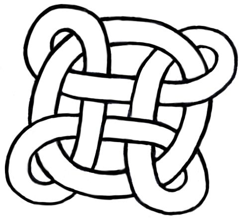 Hidden-line version of Bowen knot entangled with a ring