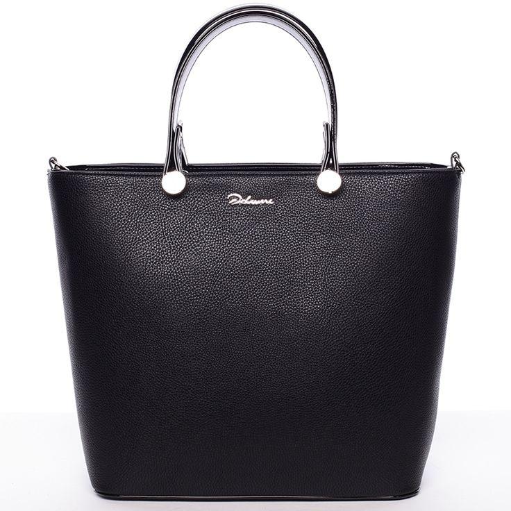 Atraktivní dámská černá kabelka. Kvalitní zpacování, nadčasový design. #ženy #móda #dárky #kabelky #černá