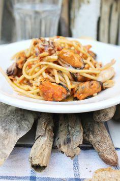 #liberericette spaghetti ai frutti di mare (surgelati)