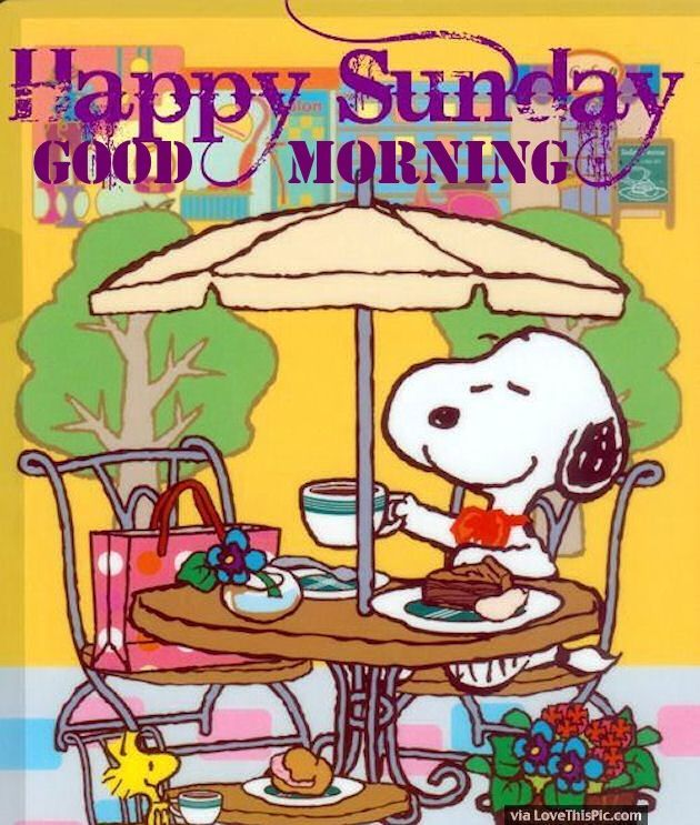 Snoopy Happy Sunday Good Morning Quote good morning sunday sunday quotes good…