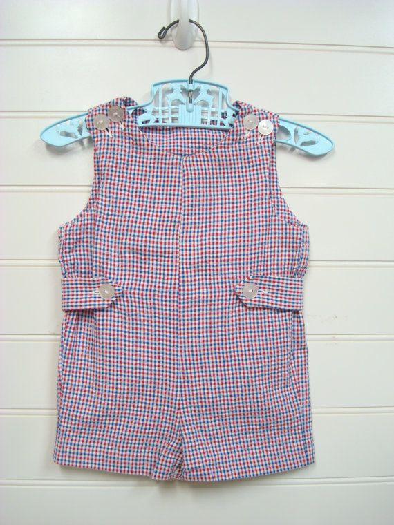Vintage Baby Clothes/Baby boy coveralls