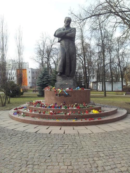 Shevchenko monument in Minsk, Belarus
