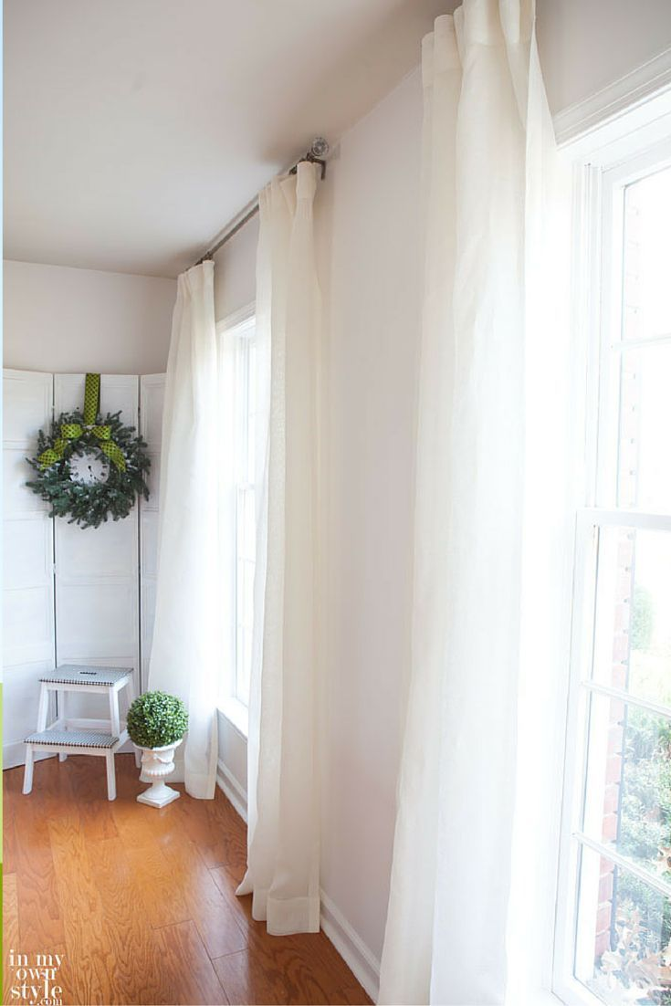 Belgian Sheer Linen Drapery Off White Dining Room Drapes Drapes Curtains Drapes And Blinds