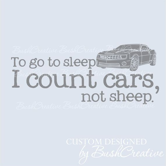 Nursery Decal Cars Camero by bushcreative on Etsy, $20.00