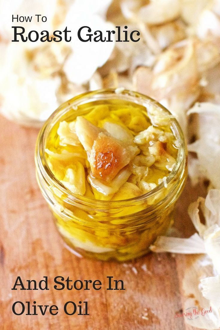 How To Roast Garlic And Store In Olive Oil I love garlic and more specifically, roasted garlic. There is something about the delicious, caramel cloves of garlic that bring my mouth happiness. I have been known to eat an entire bulb, yes a bulb, of garlic