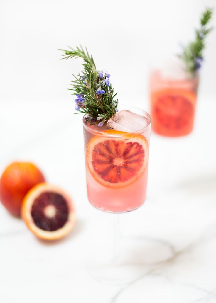 blood orange rosemary gin and tonic // recipe on http://craftandcocktails.co