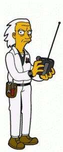 64-volver al futuro-doc brown-66 personajes y celebridades versión Simpsons